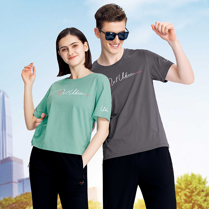 千足龙品牌2021年爽滑棉系列33510休闲宽松圆领T恤,团体服定制