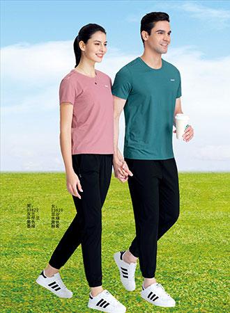 千足龙品牌2021年哥登冰丝系列33820休闲圆领T恤,团体服定制